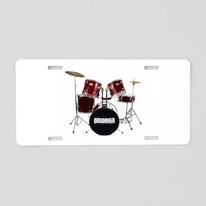 drum kit Aluminum License Plate