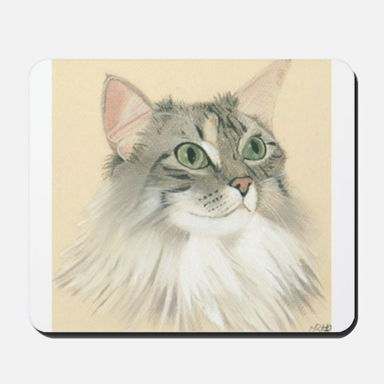 Norwegian Forest Cat Painting Mousepad