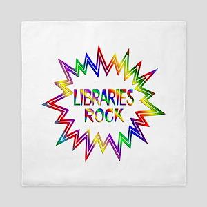 Libraries Rock Queen Duvet