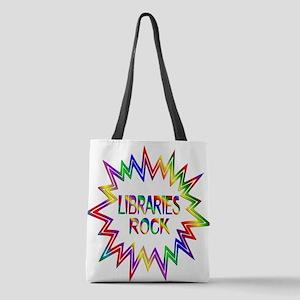 Libraries Rock Polyester Tote Bag
