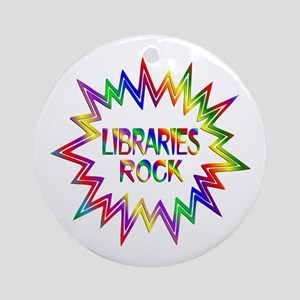 Libraries Rock Round Ornament