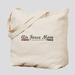 Air Force Mom:Strong Courageo Tote Bag