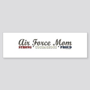 Air Force Mom:Strong Courageo Bumper Sticker