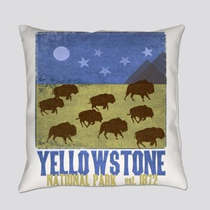 Yellowstone Bison Scene Everyday Pillow