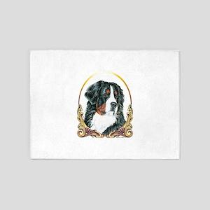 Bernese Mountain Dog Holiday 5'x7'Area Rug