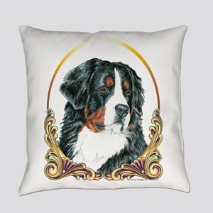 Bernese Mountain Dog Holiday Everyday Pillow
