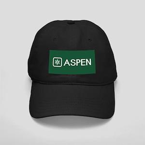 Snowflake: Aspen, Colorado Black Cap with Patch