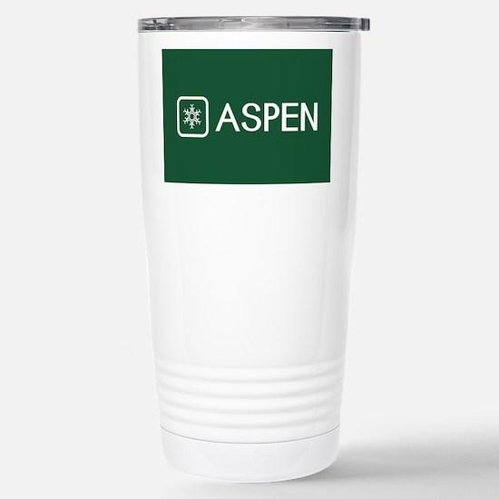 Snowflake: Aspen, Color Stainless Steel Travel Mug