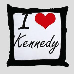 I Love Kennedy artistic design Throw Pillow