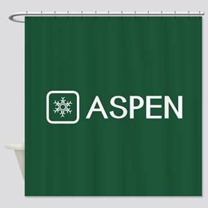 Snowflake: Aspen, Colorado Shower Curtain