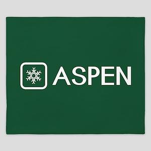 Snowflake: Aspen, Colorado King Duvet