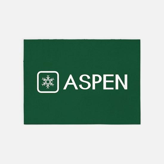 Snowflake: Aspen, Colorado 5'x7'Area Rug