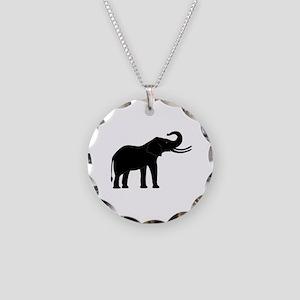 Elephant Salute Necklace Circle Charm