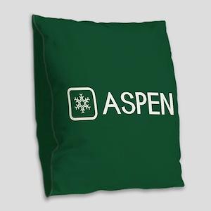 Snowflake: Aspen, Colorado Burlap Throw Pillow