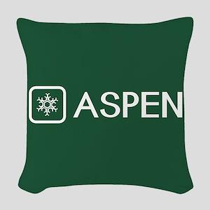 Snowflake: Aspen, Colorado Woven Throw Pillow