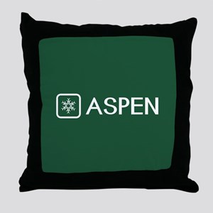 Snowflake: Aspen, Colorado Throw Pillow