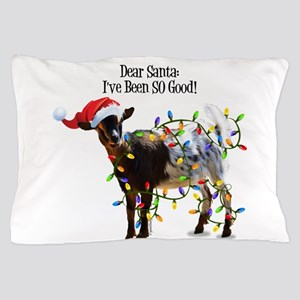 Christmas Goat I've Been So Good Pillow Case