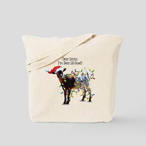 Christmas Goat I've Been So Good Tote Bag