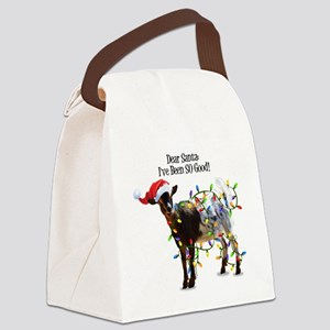 Christmas Goat I've Been So Good Canvas Lunch Bag