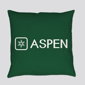 Snowflake: Aspen, Colorado Everyday Pillow