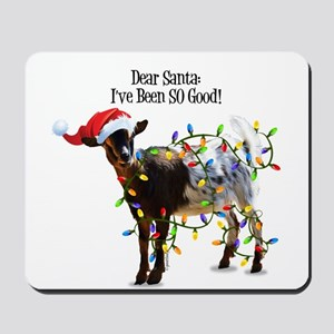 Christmas Goat I've Been So Good Mousepad