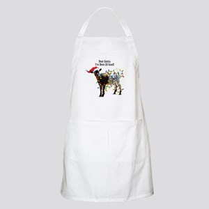 Christmas Goat I've Been So Good Apron