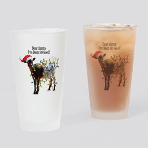 Christmas Goat I've Been So Good Drinking Glass