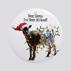 christmas goat ive been so good round ornament