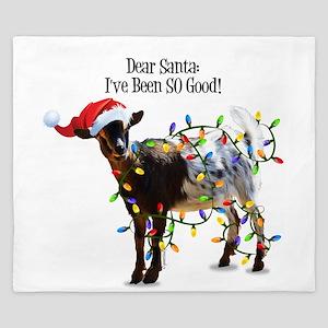 Christmas Goat I've Been So Good King Duvet