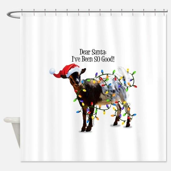 Christmas Goat I've Been So Good Shower Curtain
