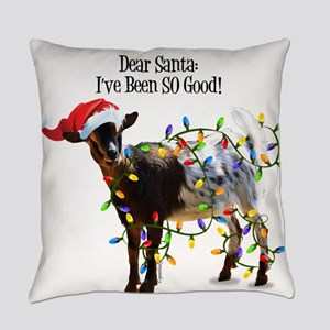 Christmas Goat I've Been So Good Everyday Pillow