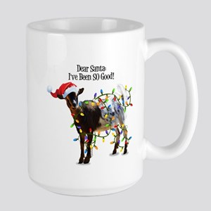 Christmas Goat I've Been So Good Mugs