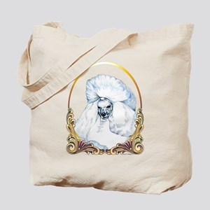 White Poodle Holiday Tote Bag