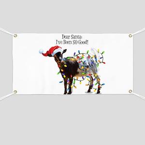 Christmas Goat I've Been So Good Banner