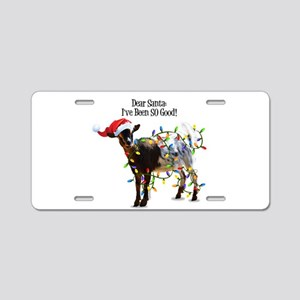 Christmas Goat I've Been So Aluminum License Plate