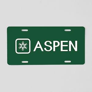 Snowflake: Aspen, Colorado Aluminum License Plate