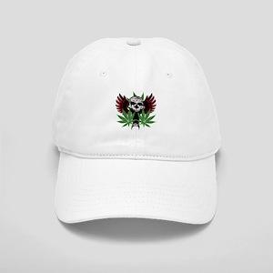 Weed Skull Cap