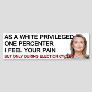 Hillary One Percenter Bumper Sticker
