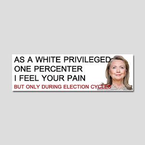 Hillary One Percenter Car Magnet 10 X 3