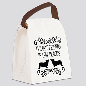 Friends In Low Places Cardigan Canvas Lunch Bag