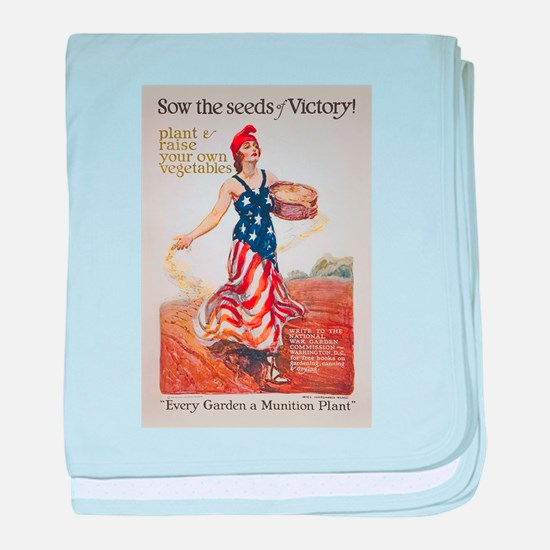 Victory Garden Liberty Sow Seeds WWI baby blanket