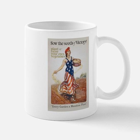 Victory Garden Liberty Sow Seeds WWI Pr Mug