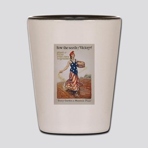 Victory Garden Liberty Sow Seeds WWI Pr Shot Glass