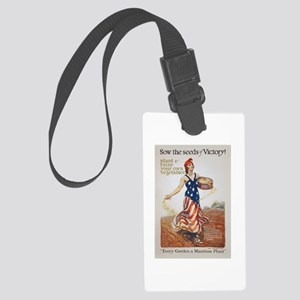 Victory Garden Liberty Sow Seeds Large Luggage Tag