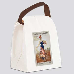 Victory Garden Liberty Sow Seeds Canvas Lunch Bag