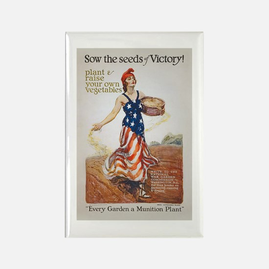 Victory Garden Liberty Sow Seeds Rectangle Magnet