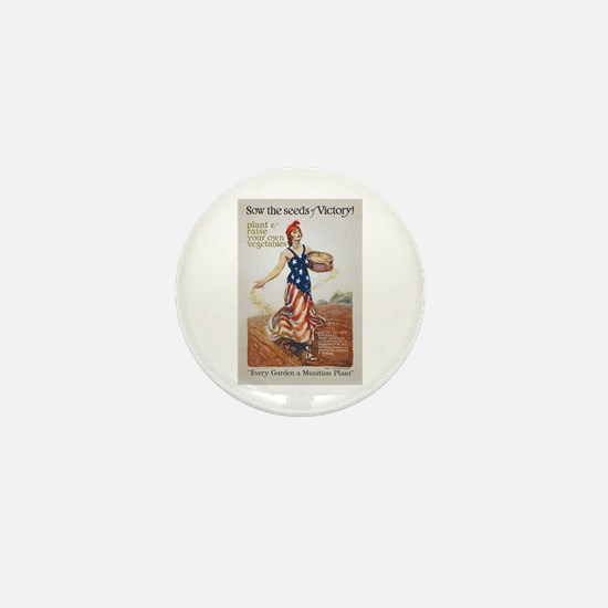 Victory Garden Liberty Sow Seeds WWI P Mini Button