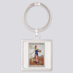 Victory Garden Liberty Sow Seeds W Square Keychain