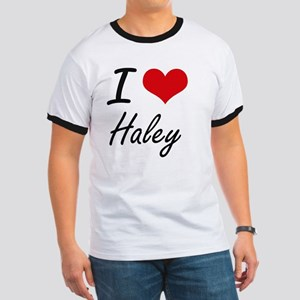 I Love Haley artistic design T-Shirt