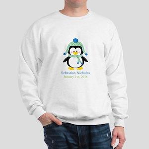 Blue Plaid Penguin Sweatshirt